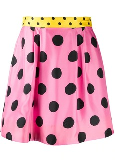 Moschino polka dot skater skirt