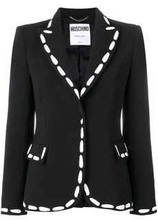 Moschino print detailed fitted blazer