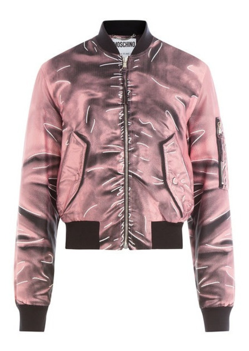 7deab38e0fb Moschino Printed Bomber Jacket | Outerwear