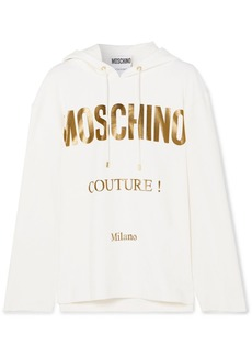Moschino Printed Cotton-blend Jersey Hoodie