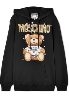 Moschino Printed Cotton-jersey Hoodie