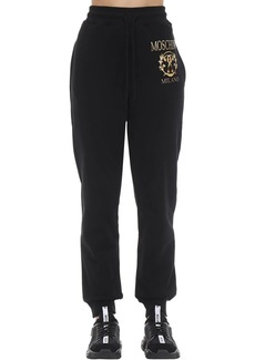 Moschino Printed Cotton Jersey Sweatpants