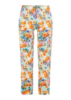 Moschino Printed Cotton-Silk Pants