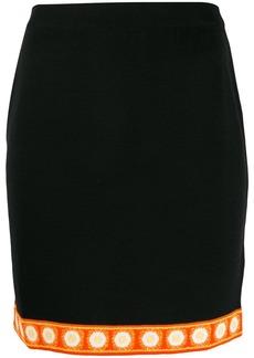 Moschino printed hem short skirt