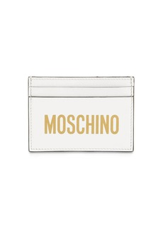 Moschino Printed Logo Leather Card Holder