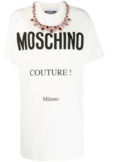 Moschino printed logo T-shirt dress