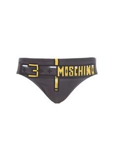 Moschino Printed Lycra Swim Briefs