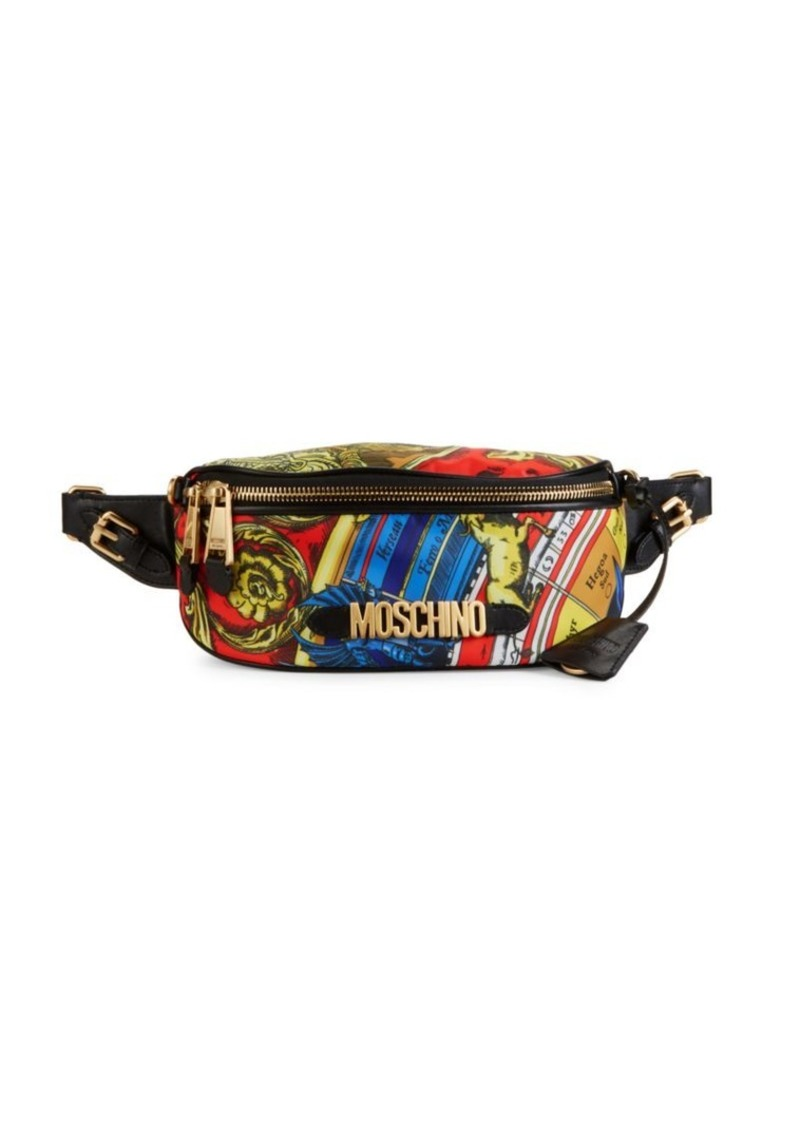 Moschino Printed Nylon Belt Bag
