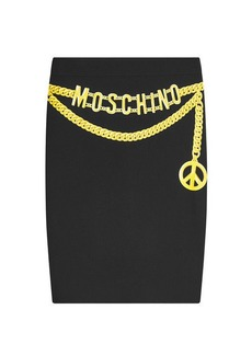 Moschino Printed Pencil Skirt