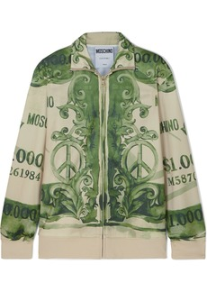 Moschino Printed Satin-jersey Track Jacket