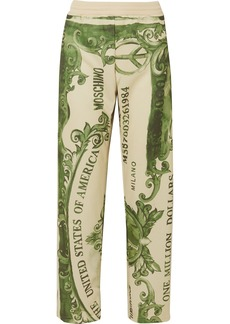 Moschino Printed Satin-jersey Track Pants