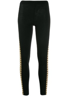 Moschino printed side panels legging