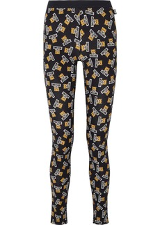 Moschino Printed Stretch-cotton Jersey Leggings