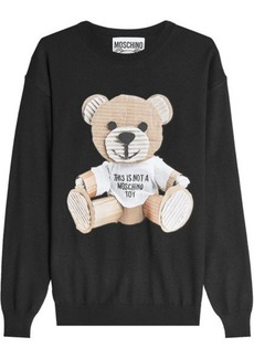 Moschino Printed Wool Pullover