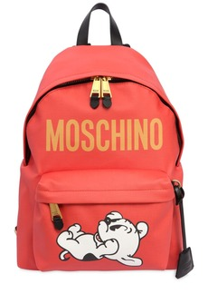 Moschino Pudgy Printed Nylon Backpack