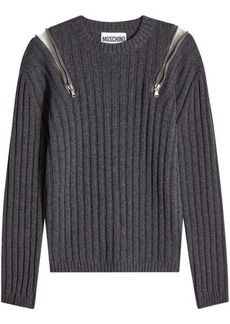 Moschino Pullover with Zipped Shoulders