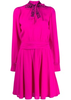 Moschino pussy bow flared dress