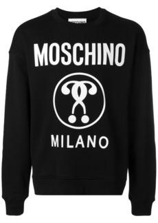Moschino question mark logo sweatshirt