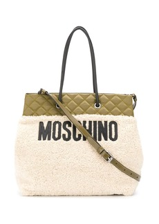 Moschino quilted top tote bag