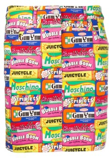 Moschino retro sweet-print skirt