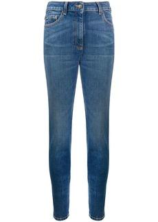 Moschino rhinestones bear skinny jeans