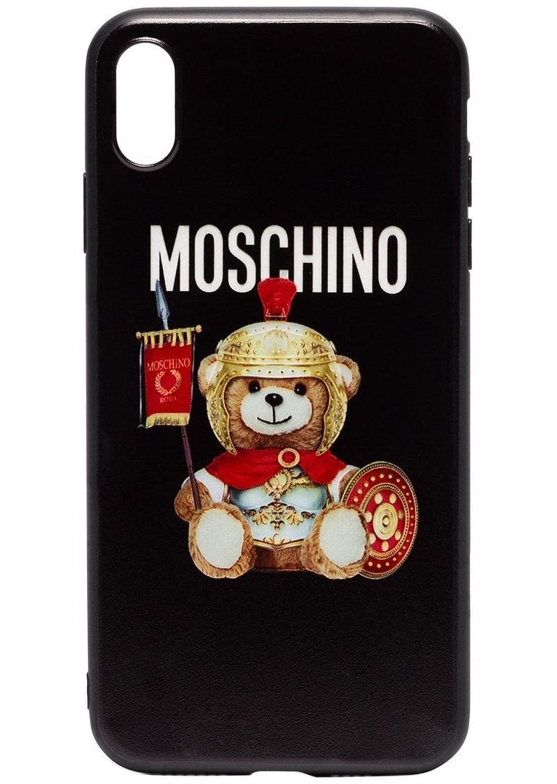 Moschino Roman Bear logo iPhone X Max case