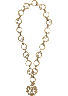 Moschino Roman Double Question Mark long necklace
