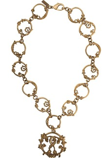 Moschino Roman Double Question Mark necklace