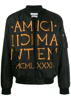 Moschino Roman Embroidered bomber jacket