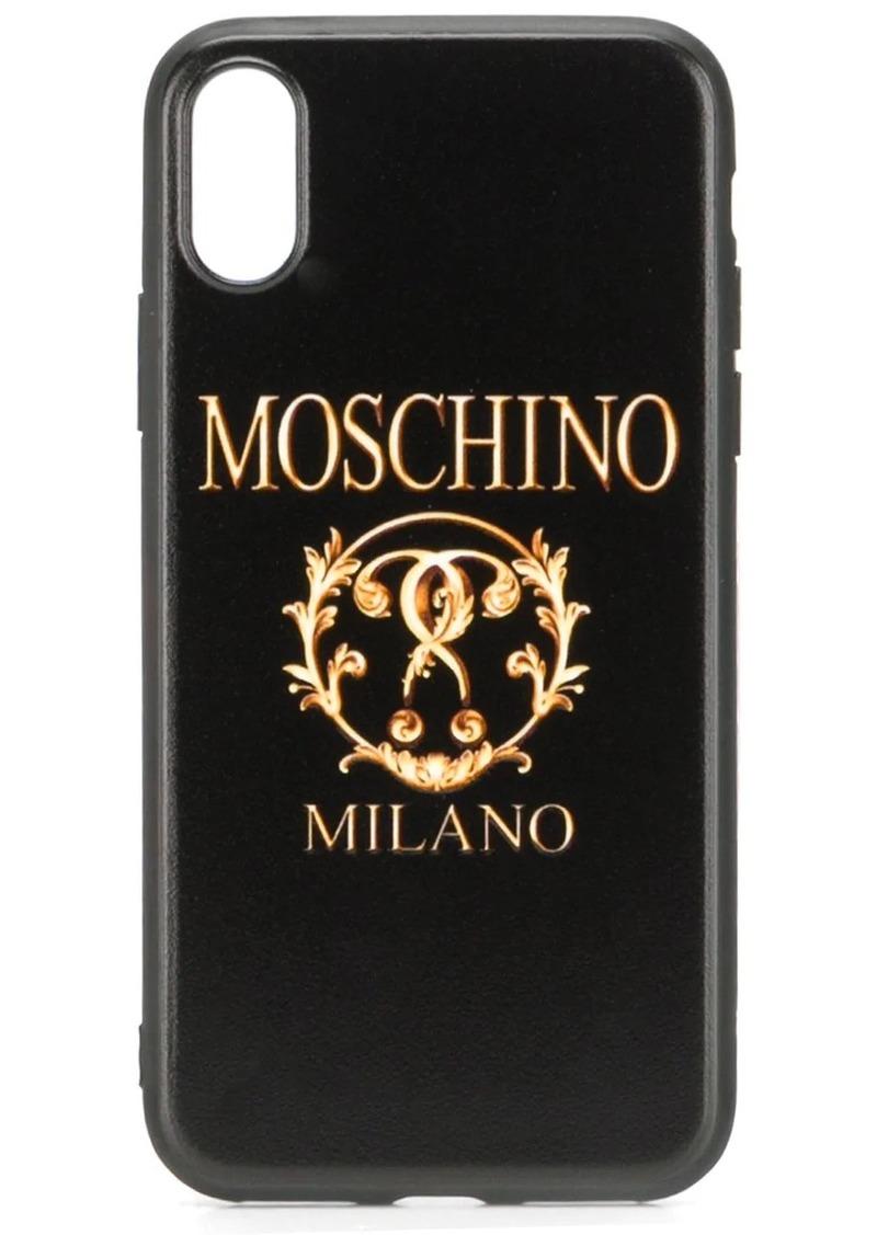 Moschino Roman logo iPhone XS/X case