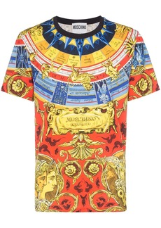 Moschino Roman scarf-print T-shirt