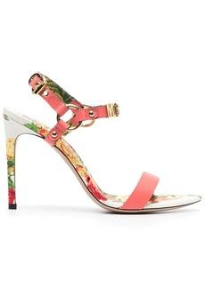 Moschino rose-print 110mm sandals