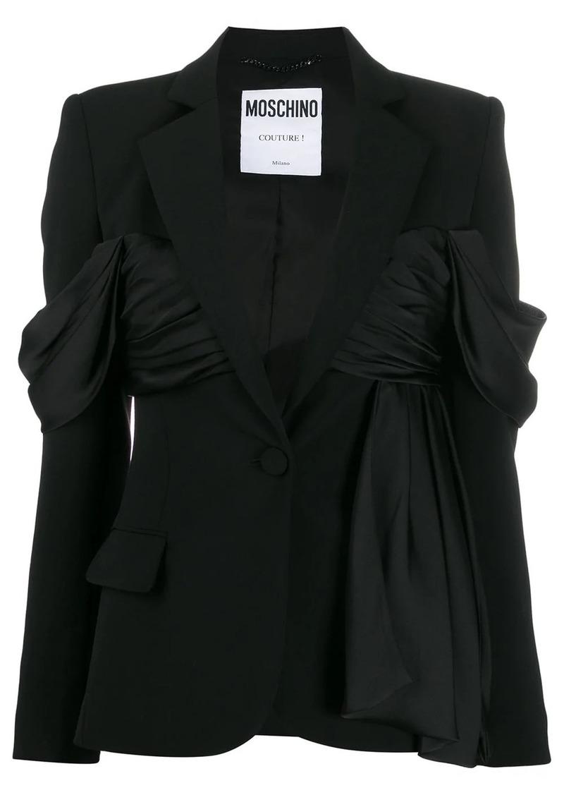 Moschino ruffle detail blazer