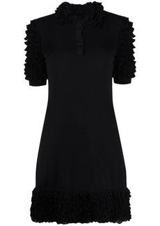 Moschino ruffle detail polo shirt dress