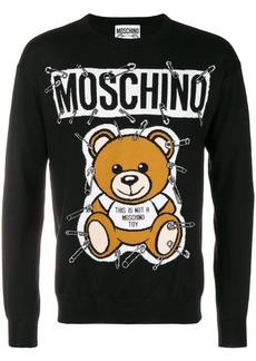 Moschino safety-pin bear sweater