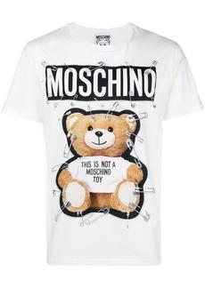 Moschino safety-pin bear T-shirt
