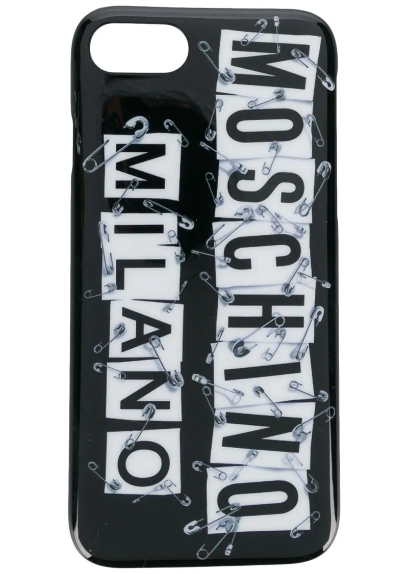 Moschino safety pin logo iPhone 7 case