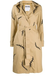 Moschino scar-print trench coat