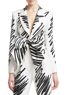 Moschino Scribble Print Bow Jacket