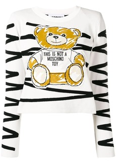 Moschino scribble teddy appliqué top