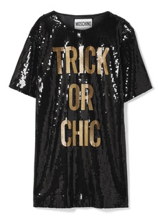 Moschino Sequined Jersey Mini Dress