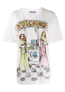 Moschino sequined multicoloured print T-shirt