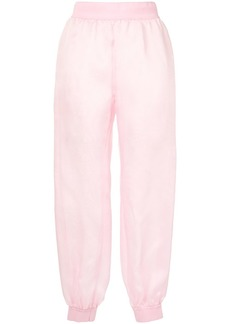 Moschino sheer tapered trousers