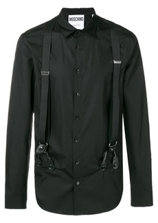 Moschino shirt with suspenders and harness