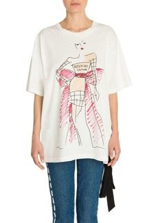 Moschino Short Sleeve Oversized Couture T-Shirt