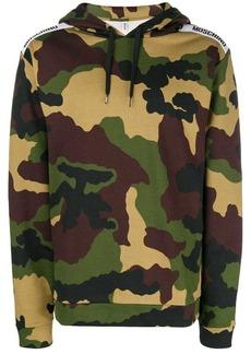 Moschino shoulder logo hoodie