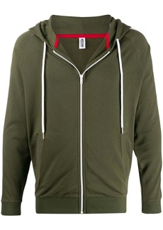 Moschino side panelled zipped hoodie
