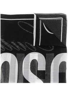 Moschino signature logo scarf