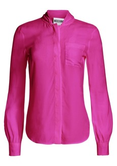 Moschino Silk Button-Down Blouse