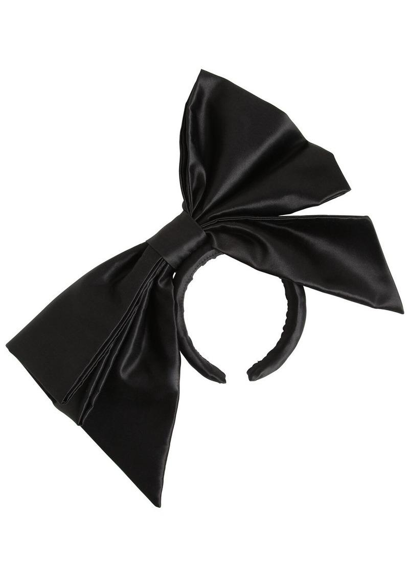 Moschino Silk Duchesse Bow Headband
